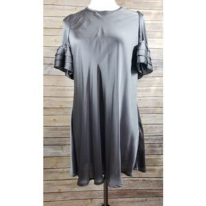 Twelve By Twelve Satin Ruffle Sleeve Dress/Tunic